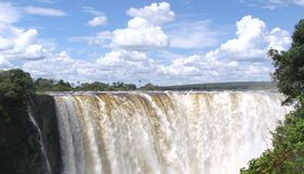 Victoria Falls panorama Royalty Free Stock Photos