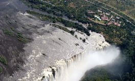 Victoria Falls panorama Stock Images
