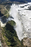 Victoria Falls por Ar Imagens de Stock