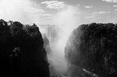Victoria Falls Seen de Victoria Falls Bridge Photographie stock libre de droits