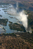 Victoria Falls from the sky Royalty Free Stock Images
