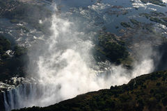 Victoria Falls from the sky Stock Images