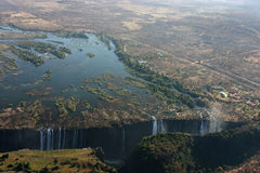 Victoria Falls from the sky Stock Image