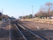 Victoria Falls Station Royaltyfria Foton