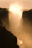 Victoria falls at Sunset. Zambia Africa Royalty Free Stock Photography