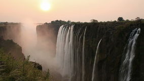 Victoria Falls sunset Stock Image