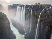 Victoria Falls sunset, Zambia side Stock Photo