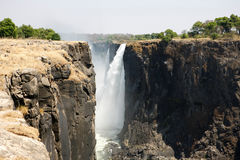 Victoria falls from the top Stock Image