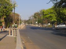 Victoria Falls Town Images libres de droits