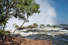 Victoria falls upstream Royalty Free Stock Photography