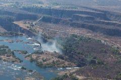 Victoria Falls van hierboven in Oktober Royalty-vrije Stock Foto