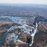Victoria Falls van hierboven in Oktober Stock Foto