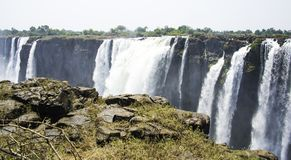 Victoria Falls. In Zimbabwe, Africa Stock Photo
