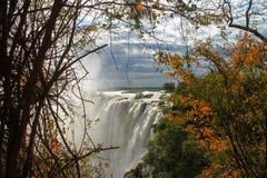 Victoria falls. View at Victoria falls in Zimbabwe Stock Image