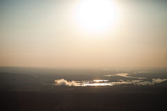Victoria Falls von der Luft stockbild