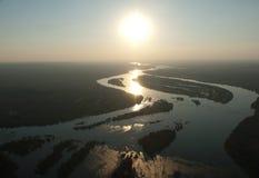 Victoria Falls von der Luft Lizenzfreie Stockfotos