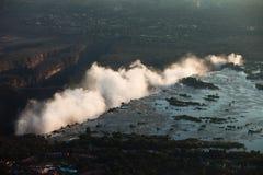Victoria Falls von der Luft Stockfotos