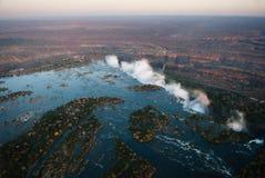 Victoria Falls von der Luft Stockfoto