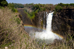 Victoria Falls w/Rainbow, South Africa - 11/2013 Stock Images