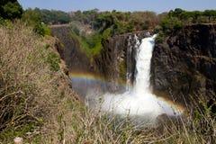 Victoria Falls w/Rainbow, Zuid-Afrika - 11/2013 Stock Afbeeldingen