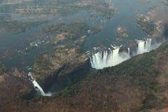 Victoria Falls y el Zambeze imagen de archivo