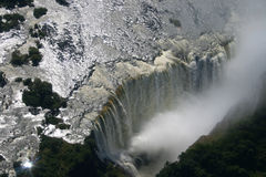 Victoria Falls. Zâmbia foto de stock