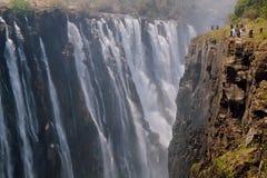 Victoria Falls on Zambezi River Royalty Free Stock Image