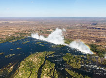 Victoria Falls on Zambezi River Royalty Free Stock Images
