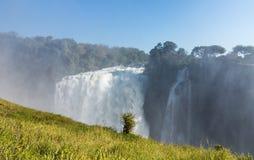 Victoria Falls on Zambezi River Royalty Free Stock Photography