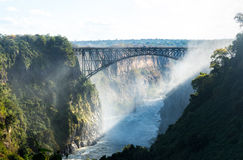 Victoria Falls on Zambezi River Stock Photos