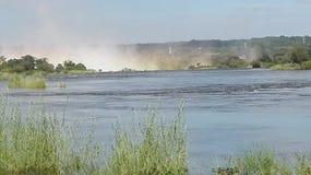 Victoria Falls Zambezi River Zambia Arkivbild