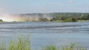 Victoria Falls Zambezi River Zambia Arkivfoto