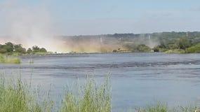 Victoria Falls Zambezi River Zambia Royaltyfri Foto