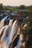 Victoria Falls in Zambia. Sunset at the Victoria Falls in Zambia Royalty Free Stock Photography