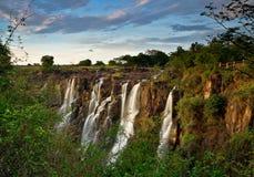 Victoria Falls Zambia Arkivbilder