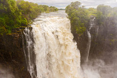 Victoria Falls in Zambia. View of the Victoria Falls in Zambia Stock Photography