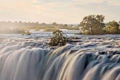Victoria falls, Zambia. Victoria falls on Zambezi river, Zambia Royalty Free Stock Image