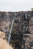 The Victoria Falls in Zambia, Zimbabwe at the end of the dry season.  Royalty Free Stock Images