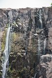 The Victoria Falls in Zambia, Zimbabwe at the end of the dry season.  Royalty Free Stock Photos
