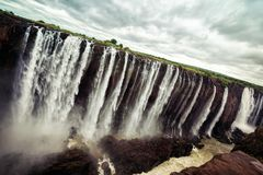 Victoria Falls in Zambia and Zimbabwe royalty free stock photography