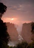 Victoria Falls in Zimbabwe. The photo was taken in Zimbabwe's Victoria Falls national park Royalty Free Stock Image