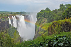 Victoria Falls, Zimbabwe. Taken with a rainbow Royalty Free Stock Images