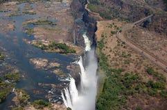 Victoria Falls Zimbabwe Arkivfoton