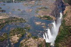 Victoria Falls Zimbabwe Royaltyfria Foton