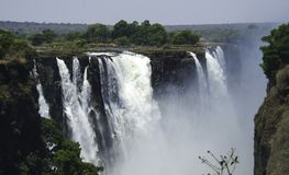 Victoria Falls in Zimbabwe, Africa royalty free stock image