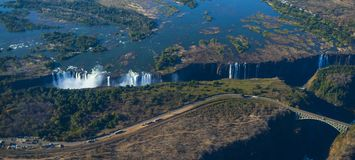 The Victoria Falls in Zimbabwe, Africa royalty free stock photo