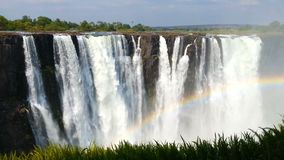 Victoria falls, Zimbabwe, Africa wilderness landscape stock footage