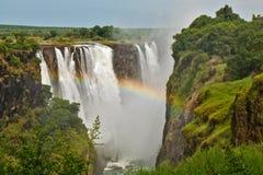 Victoria Falls, Zimbabwe, closeup Stock Image