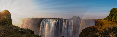 Victoria Falls Zimbabwe. The great Victoria Falls near Livingstone in Zimbabwe royalty free stock photography