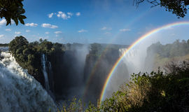 Victoria Falls, Zimbabwe. View of the Devil`s Cateract at Victoria Falls in Zimbabwe in the month of May Royalty Free Stock Images